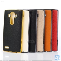 Litchi Leather PC Hard Back Case Cover for LG G4