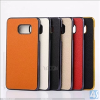Litchi Leather PC Hard Back Cover Case for SAMSUNG  Galaxy S6 Edge Plus /N925