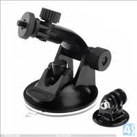Plastic Camera Stand Holder with Suction Cup for GoPro HD Hero 2 / 3 - Black