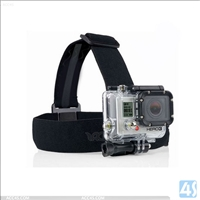 Elastic Adjustable Head Strap Mount Belt(Anti-slide Glue)For GoPro Hero 3+ 3 2 1 GP24