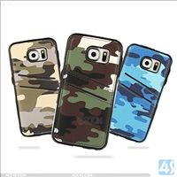 Camouflage PU Leather PC Back Cover Case for SAMSUNG Galaxy S6 Edge