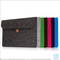 Wool Leather Pouch for Kindle Oasis