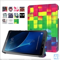 Printed PU Leather Tri Fold Case for SAMSUNG Galaxy Tab A 10.1 T580