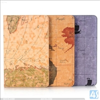 Map Pattern PU Leather Case for SAMSUNG  Galaxy Tab A 10.1 T580 with Card Slot