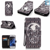 Patterned PU Leather Wallet Case for SAMSUNG Galaxy S7 Edge /G935