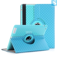 Grid PU Leather 360 Rotation Case for APPLE iPad 4