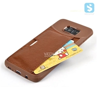 With Card Slot PU Leather TPU Case for SAMSUNG Galaxy S7 Edge /G935