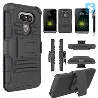 Silicon PC Combo Belt Clip Case for LG G5