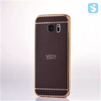Electroplating Litchi Pattern Case for SAMSUNG Galaxy S7 Edge /G935