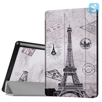 Printed PU Leather Tril Fold Case for AMAZON New fire HD8 (2016)