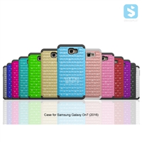 Bling Silicon TPU PC Shockproof Case for SAMSUNG Galaxy On7(2016) /G6100