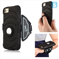 3in1 Armor Holster Belt Clip with Wristband & Ring Stand Case for iPhone 7