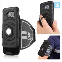 3in1 Armor Holster Belt Clip with Armband & Ring Stand Case for Samsung Galaxy S7