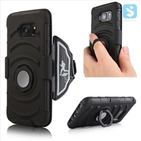 3in1 Armor Holster Belt Clip case for Samsung S7 with Metal & Ring Stand