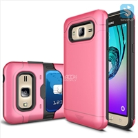 TPU+Plastic Shockproof Rugged Case with Hidden Card Slot for SAMSUNG  J3 /J320P(2016)