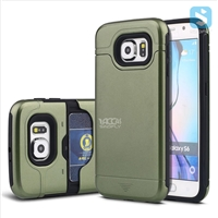 TPU+Plastic Shockproof Rugged Case with Hidden Card Slot for Samsung Galaxy S6