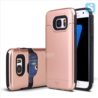 TPU+Plastic Shockproof Rugged Case with Hidden Card Slot for Samsung Galaxy S7