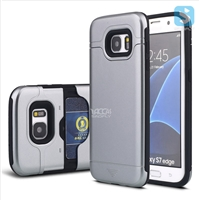 TPU+Plastic Shockproof Rugged Case with Hidden Card Slot for Samsung Galaxy S7 Edge /G935