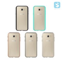 PC TPU Clear Back Colorful Bumper case for SAMSUNG Galaxy A7(2017)