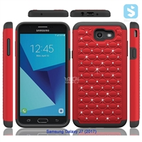 Bling Silicon TPU PC Combo Case for SAMSUNG Galaxy J7 (2017) / J7 POP