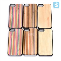 Magnetic PC Colorful Wood Case for iPhone 7
