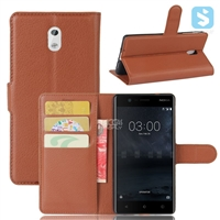 PU Leather Wallet Case for Nokia 3
