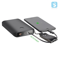 12500mAh QC3.0 Fast Charger Power Bank with Type C & Micro Port