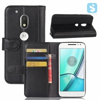 Real Leather Wallet Case for MOTOROLA Moto G4 Play / XT1607 (2016)