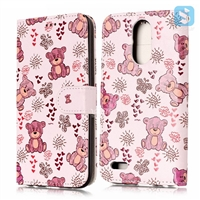 Printed PU Leather Wallet Case for LG K10 (2017) / LG M250N (LV5)