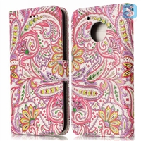Printed PU Leather Wallet Case for MOTOROLA G5
