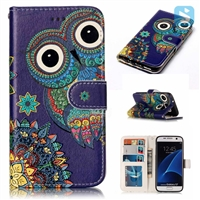 Printed PU Leather Wallet Case for SAMSUNG Galaxy S7 Edge /G935