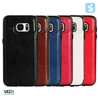 Crazy Horse PU Leather Back Cover for Galaxy S7 Edge /G935