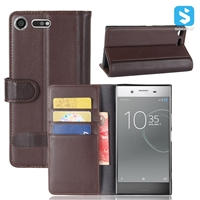 Real Leather Wallet Case for SONY XPERIA XZ PREMIUM /G8141