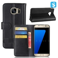 Genuine Leather Wallet Case for SAMSUNG Galaxy S7 Edge /G935