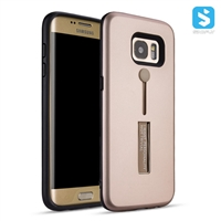 PC TPU Invisible Stand Ring Holder Case for SAMSUNG Galaxy S7 Edge /G935