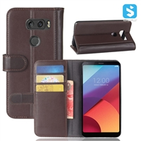 Genuine Leather Wallet Case for LG V30