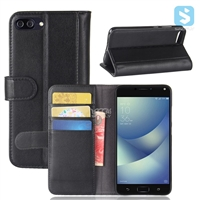 Genuine Leather Wallet Case for ASUS Zenfone 4 Max ZC554KL