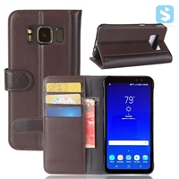 Genuine Leather Wallet Case for SAMSUNG Galaxy S8 Active