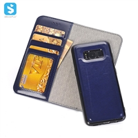Detachable PU Leather Wallet Case for SAMSUNG Galaxy S8 Plus