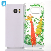 Christmas Tree Liquid Sands Case for Samsung Galaxy S7 Edge /G935