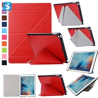 Transformer PU Leather Back Case for iPad 9.7 2017