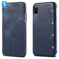 Classic Genuine Leather Back Cover for iPhone  X