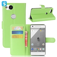 Litchi PU Leather Wallet Case for GOOGLE Pixel 2