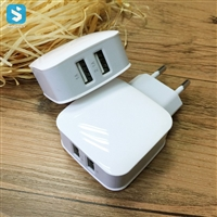 2.1A USB Wall Plug Double