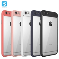 Precise Cutting TPU Acrylic Clear Back Cover for iPhone 6 plus