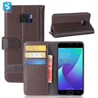 Genuine Leather Wallet Case for ASUS ZenFone V(V520KL)