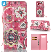 Flower PU Leather Wallet Case for Samsung Galaxy Note 8