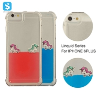 TPU Horse Pattern Floating Liquid Case for iPhone 6s Plus
