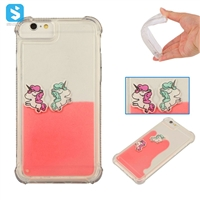 TPU Horse Pattern Floating Liquid Case for iPhone 6(S)