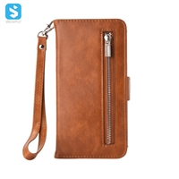 Zipper PU Leather Wallet Case for Samsung Galaxy Note 8
